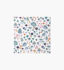 scattered mushroom pattern Art Board Print