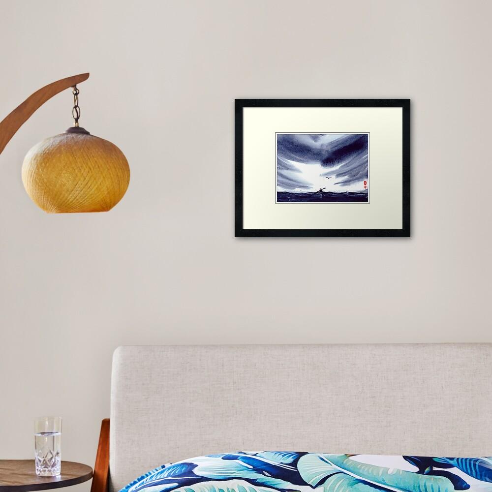 Sea Kayaker Framed Art Print
