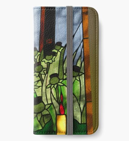 Stained Glass Window Reflection iPhone Flip-Case