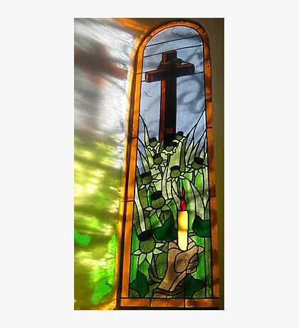 Stained Glass Window Reflection Fotodruck
