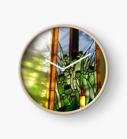 Stained Glass Window Reflection Uhr