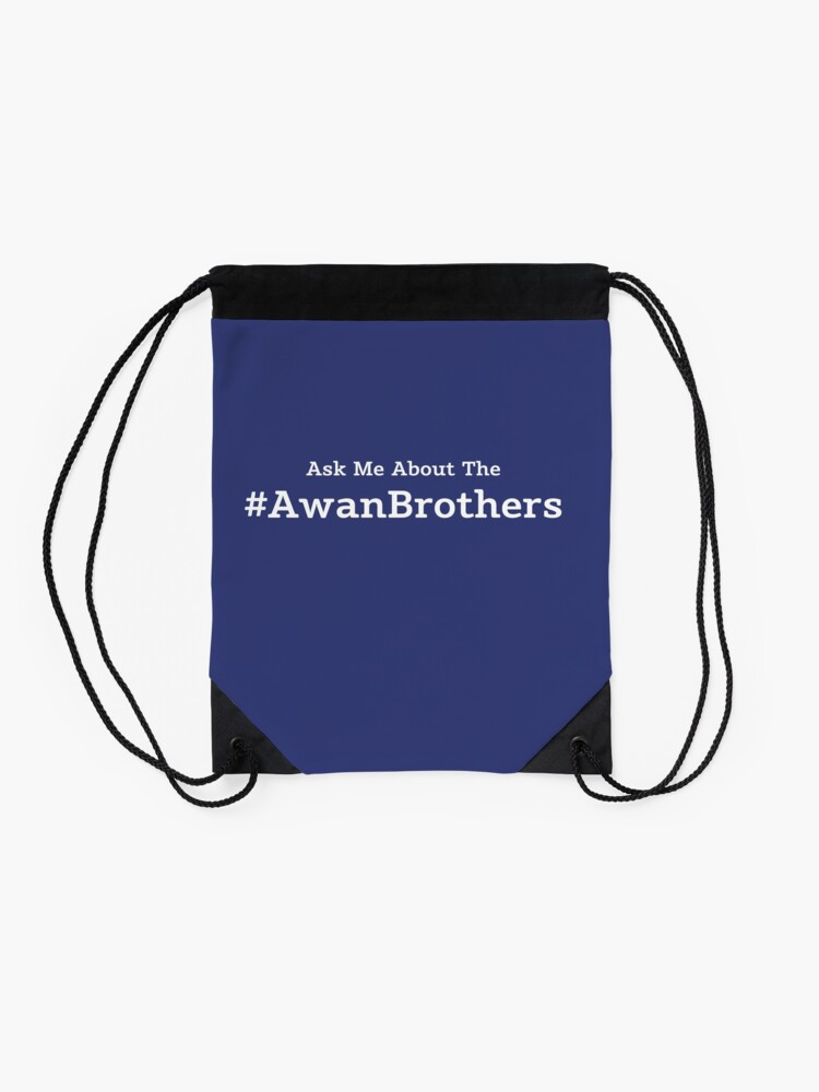 Alternate view of Ask Me About the Awan Brothers Drawstring Bag