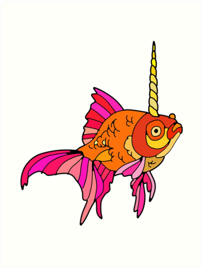 Unicorn Fish by Notsniw Art
