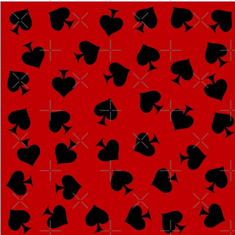 Spades on red by platonicXXI