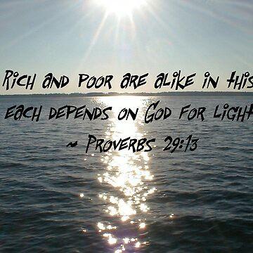 Proverbs 29:13 by lyndamarie