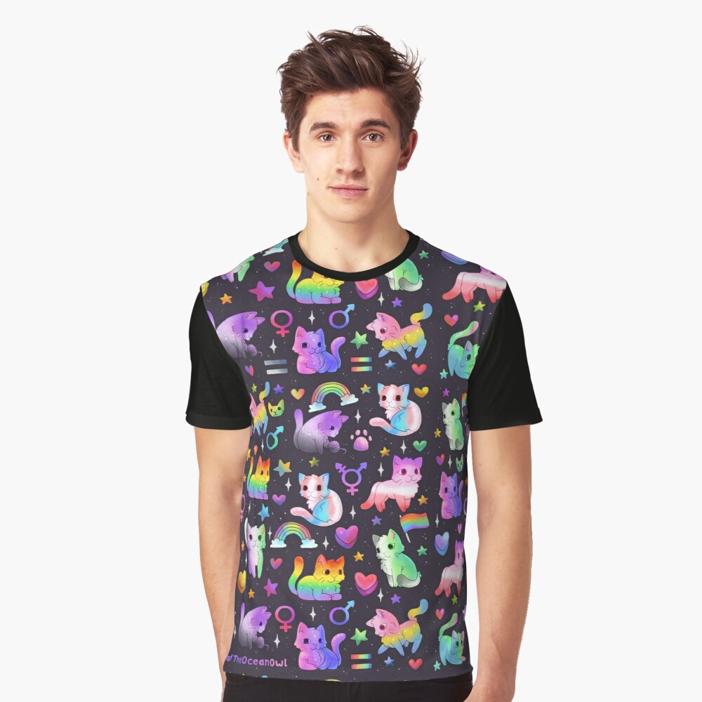 Pride Cats Graphic T-Shirt