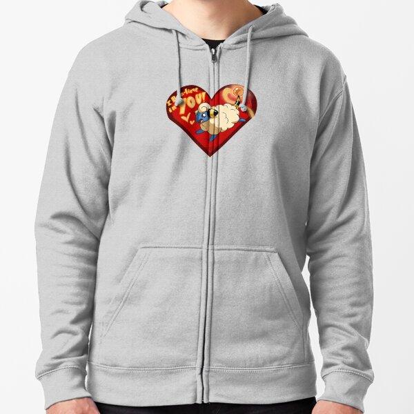 Mareep Valentine Zipped Hoodie