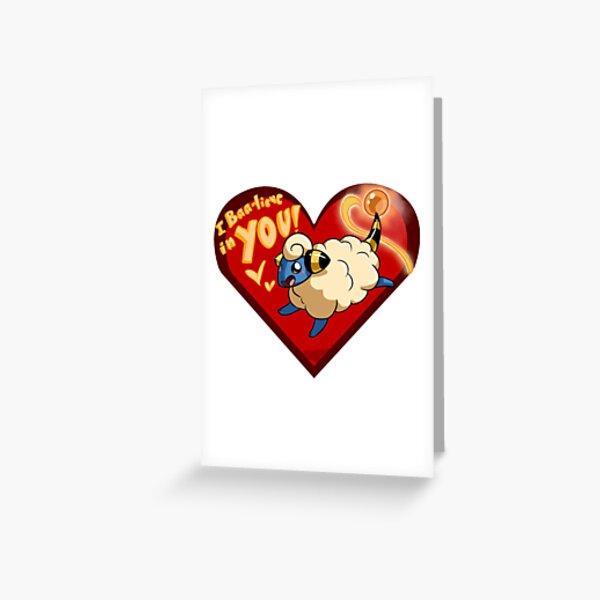 Mareep Valentine Greeting Card
