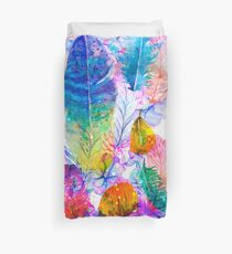 boho feathers Duvet Cover