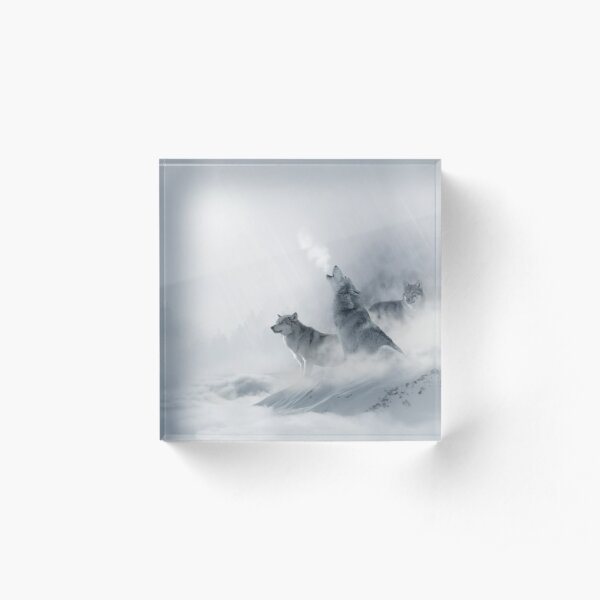 Wolves Acrylic Block