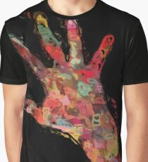 Colorful, Bright, Fun, Abstract Hand Painting Graphic T-Shirt