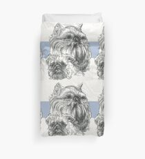 Brussels Griffon Father & Son Duvet Cover
