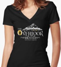 The Shining - Overlook Hotel Yellow lights Women's Fitted V-Neck T-Shirt