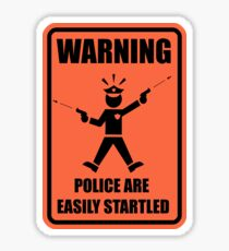 Police Warning Sticker