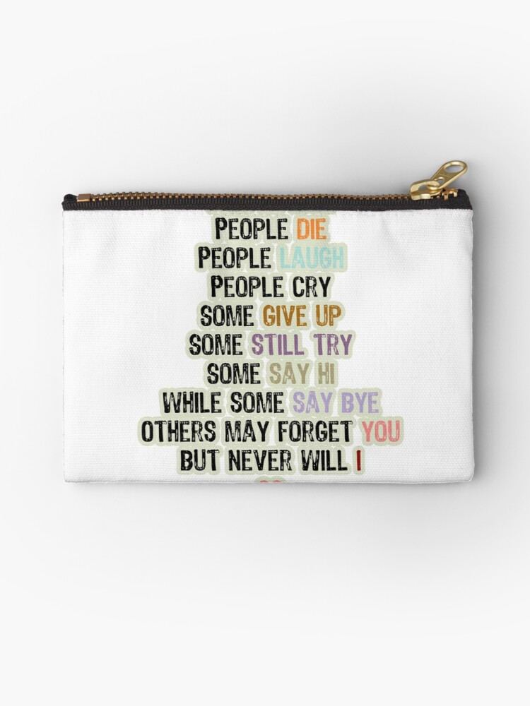'Words expressing love and life-Stickers' Zipper Pouch by mahmoud787
