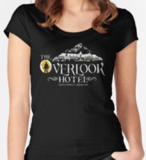 The Shining - Overlook Hotel Yellow lights (Distressed) Women's Fitted Scoop T-Shirt
