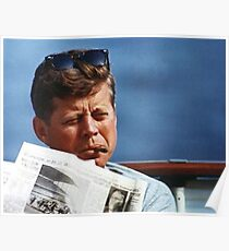 John F Kennedy Smoking  Poster