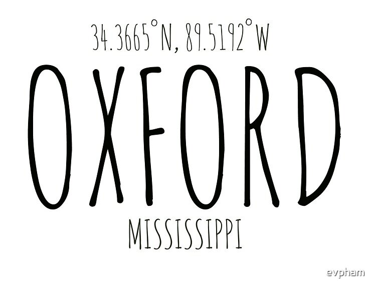 Oxford, MS Coordinates by evpham