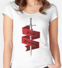 Band of Brothers-Red Women's Fitted Scoop T-Shirt