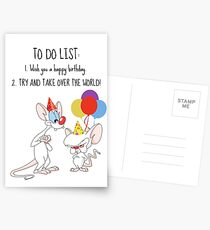 Pinky and the Brain Birthday Card Postcards