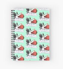 Strawberry Opossum - text Spiral Notebook