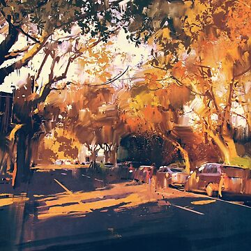 Autumn Day Painting by bFred
