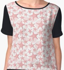 Star fishes background Women's Chiffon Top