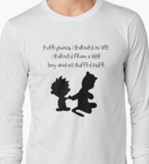 Hobbes Friendly Quotes Long Sleeve T-Shirt