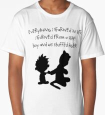 Hobbes Friendly Quotes Long T-Shirt