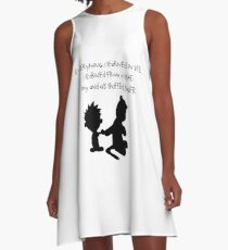 Hobbes Friendly Quotes A-Line Dress