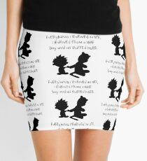 Hobbes Friendly Quotes Mini Skirt