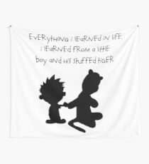 Hobbes Friendly Quotes Wall Tapestry