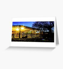 Dusk on the Farm Greeting Card