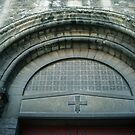 Above Entrance door to L Abbaye aux Hommes Caen 19840819 0016 by Fred Mitchell