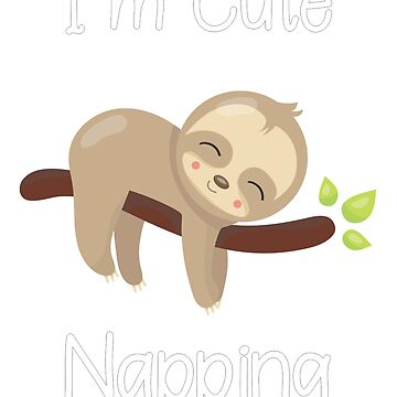 im cute napping baby sloth by DBA-Dezines