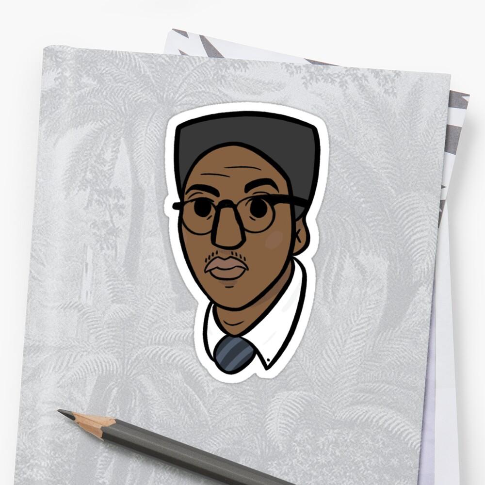 Bayard Rustin Sticker Front