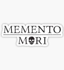 Memento Mori (black) Sticker