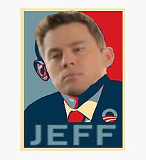my name is jeff obama hope poster Photographic Print