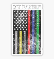 My Family, Support Services Flag Sticker