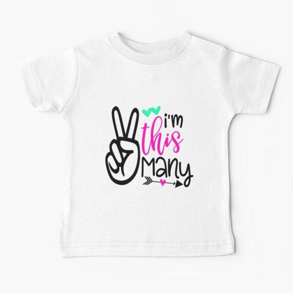 I'm This Many Second Birthday Baby T-Shirt