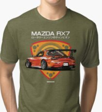 Mazda RX7 efini Tri-blend T-Shirt