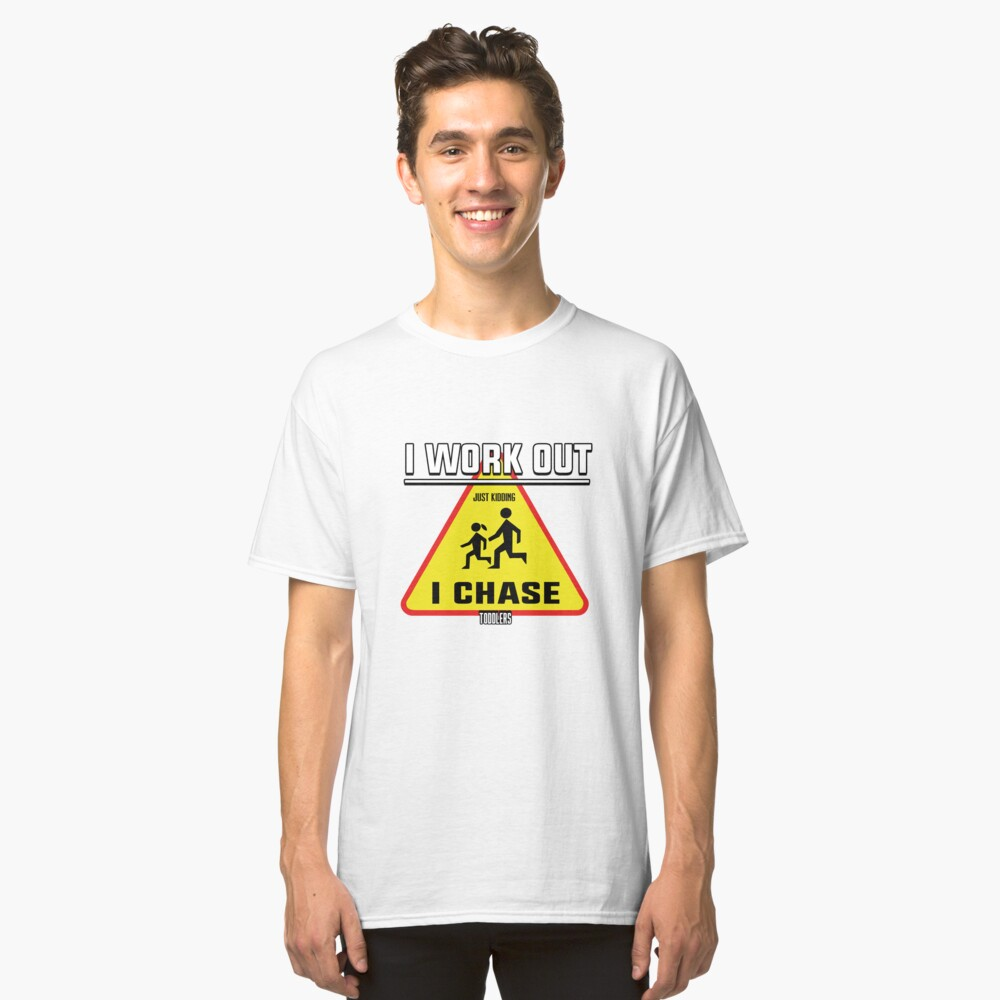 I Chase Toddlers Art Design Classic T-Shirt Front