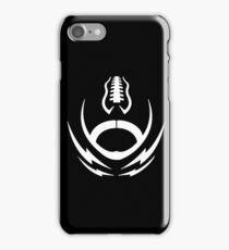 Football logo with a tattoo crest styled pigskin emblem iPhone Case/Skin