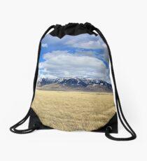 The Mountains Beyond the Grasslands Drawstring Bag