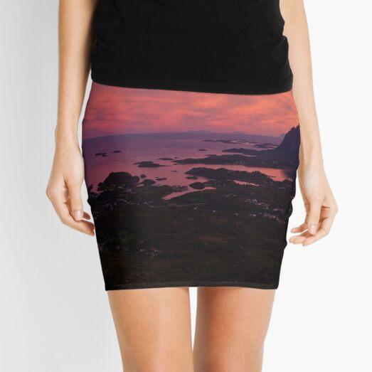 Sunset in Norway Mini Skirt