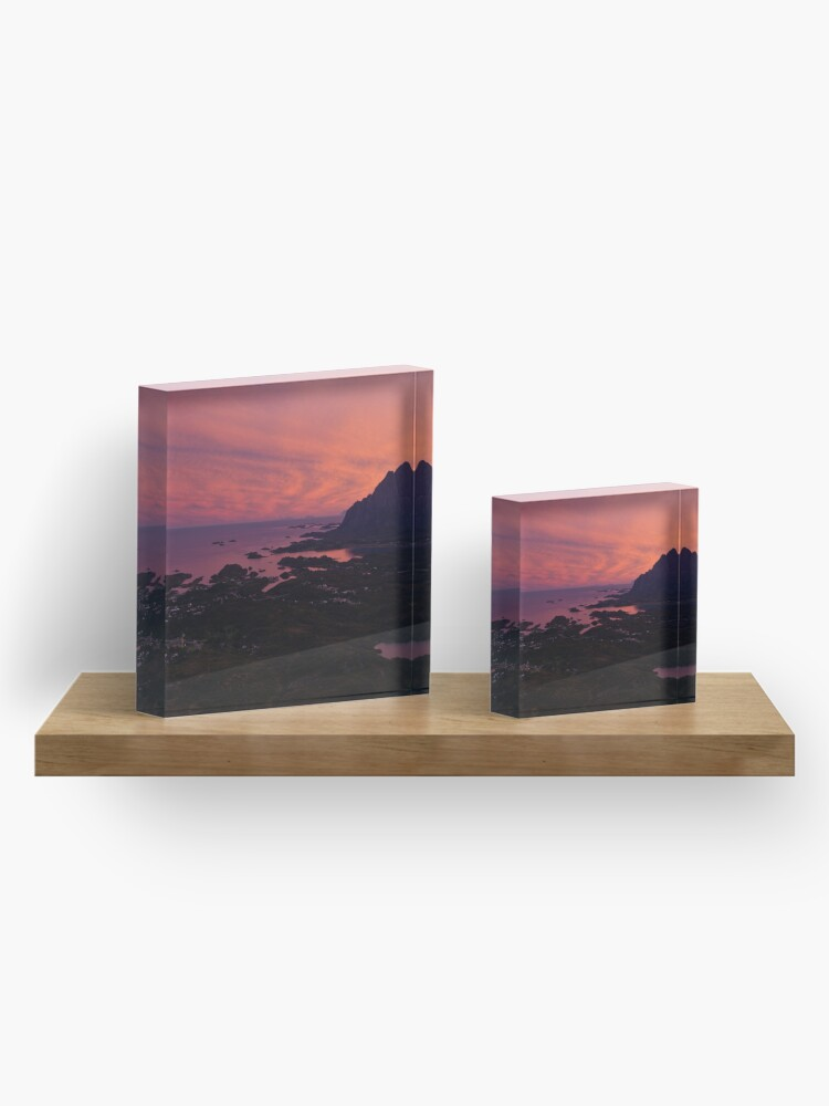 Alternate view of Sunset in Norway Acrylic Block