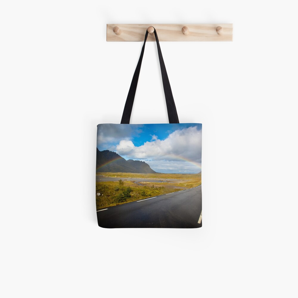 Rainbow in Norway Tote Bag
