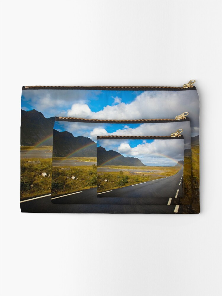 Alternate view of Rainbow in Norway Zipper Pouch