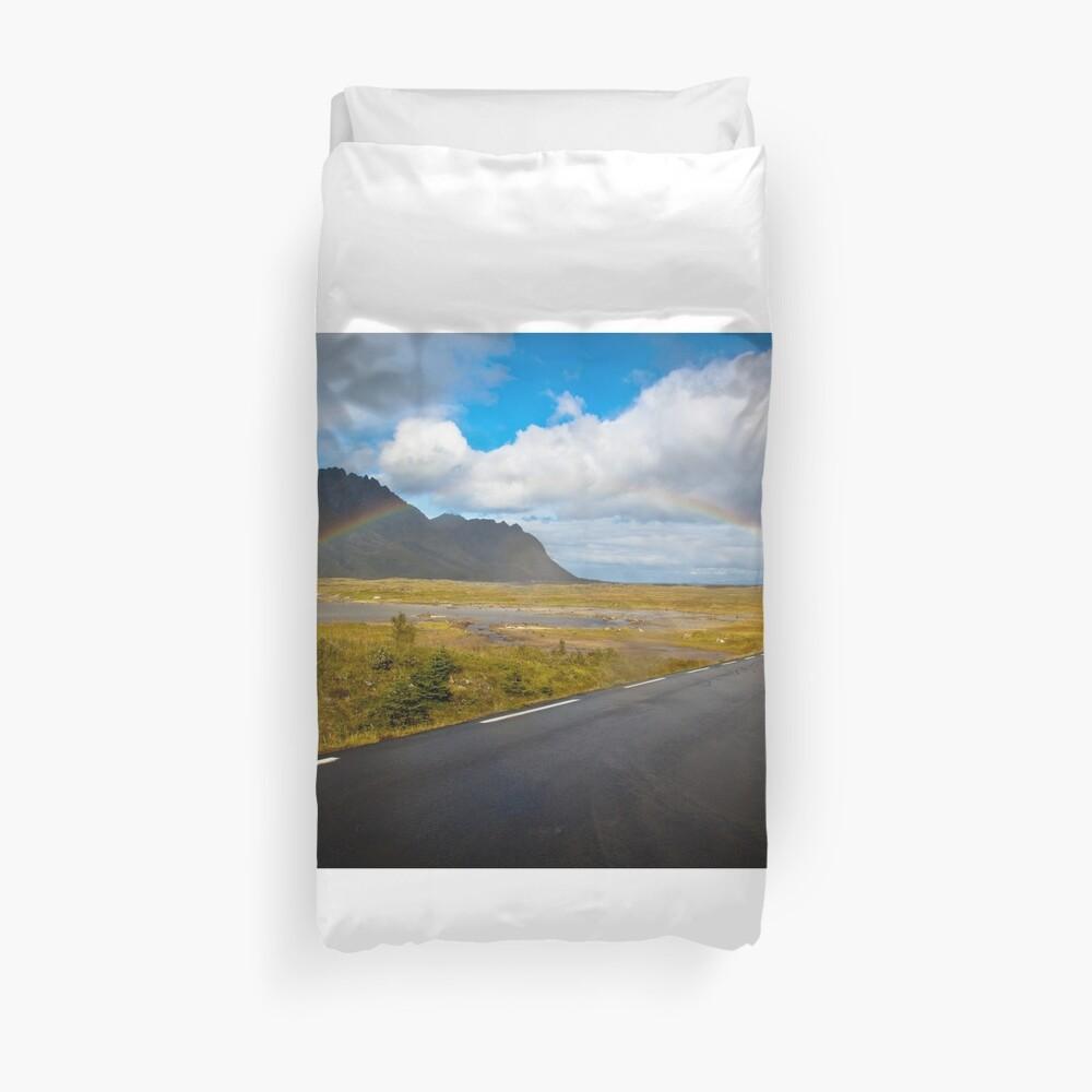 Rainbow in Norway Duvet Cover