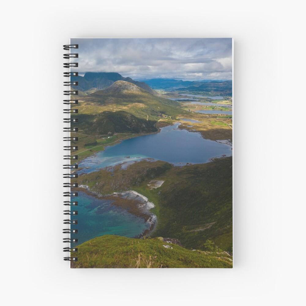 Landscape of Norway (2 of 3) Spiral Notebook